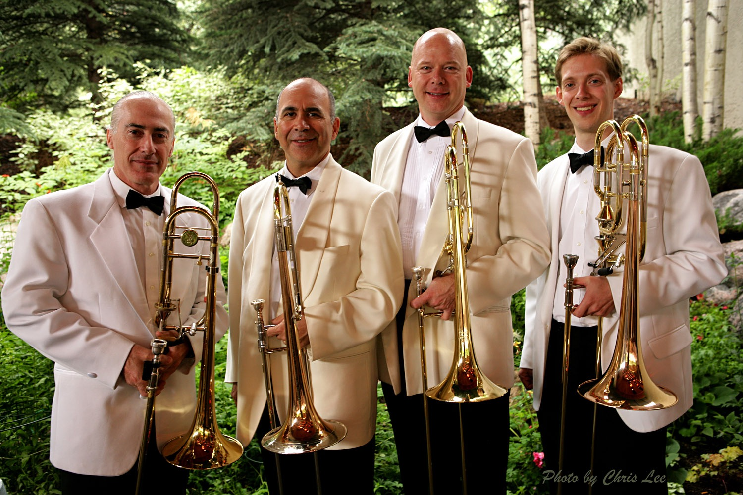 NY Phil Trombone Section Finlayson, Alessi, Ellefson, and Markey. www.davidbrubeck.com